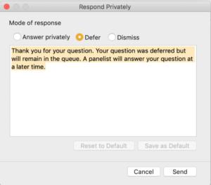 WebEx Respond Privately